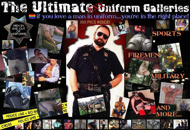 Men In Uniform - Gay Hairy Men in Uniform cops police firemen construction ...